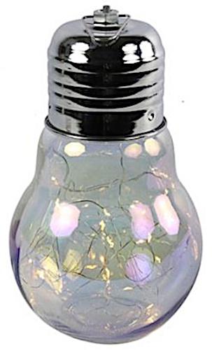 gloeilamp led glas 24 x 14 cm parelmoer