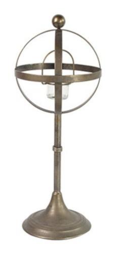 kandelaar Vickena 19 x 49 cm staal grijs