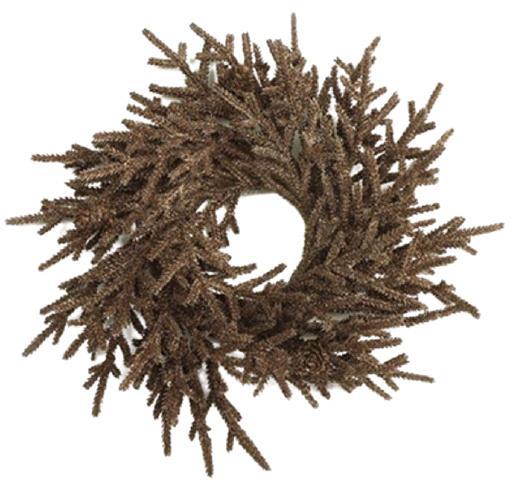 kerstkrans Farlow 33 cm zijde donkerbruin