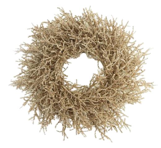 Countryfield kerstkrans Forest 30 cm zijde bruin