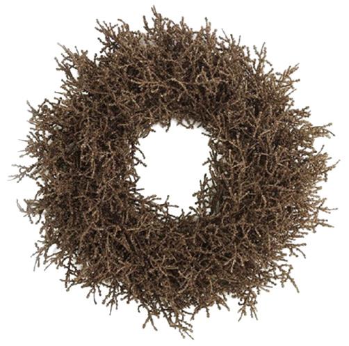 kerstkrans Forest 40 cm zijde donkerbruin