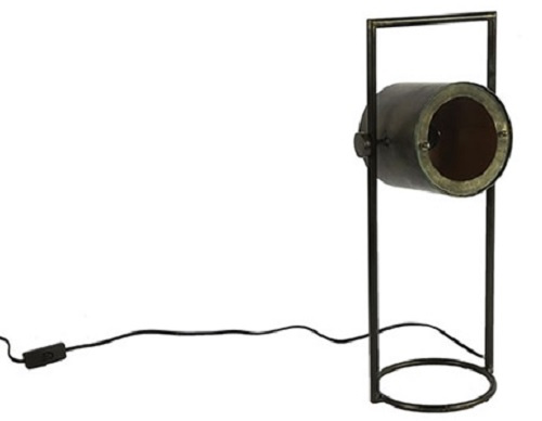 tafellamp Patony 24 x 18,5 x 55 cm staal zwart