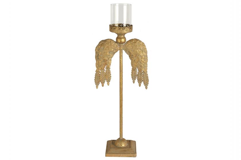 theelichtenhouder Metta 13 x 20,5 x 60 cm ijzer goud