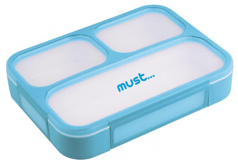 lunchbox Must 1 liter unisex 23 x 17 cm blauw