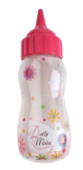 drinkfles 14 cm wit/roze