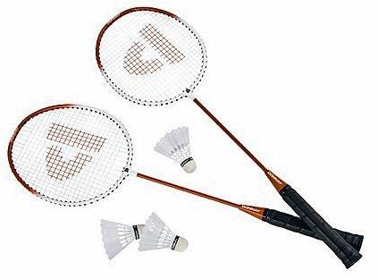 Badmintonset HTF staal oranje per set
