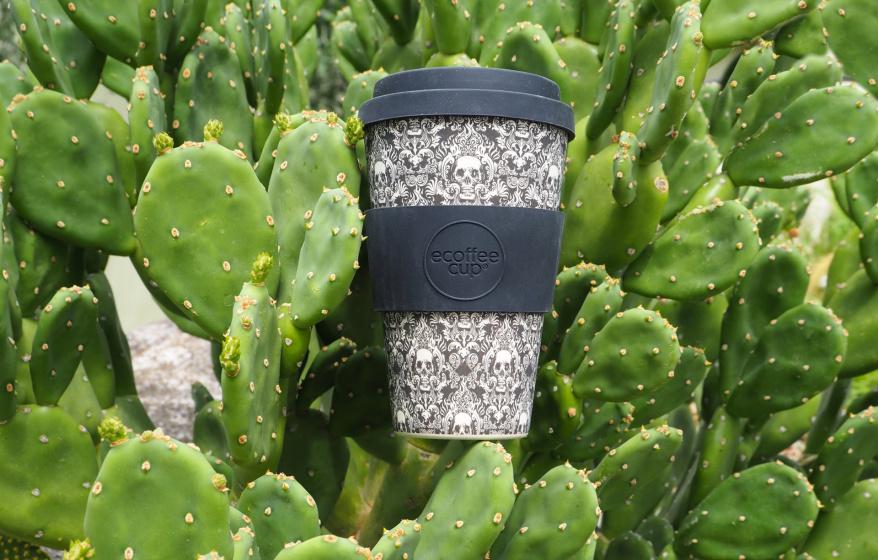 Bamboe Beker zwart 400 ml