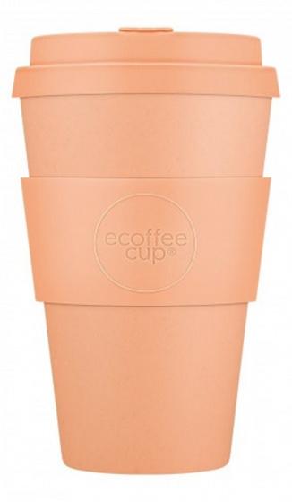 beker Catalina 400 ml bamboe/siliconen pastel oranje
