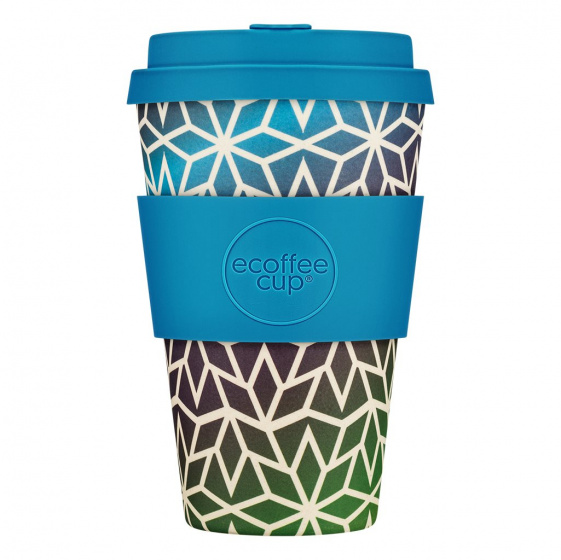 Ecoffee Cup beker Stargate bamboe/siliconen 400 ml blauw