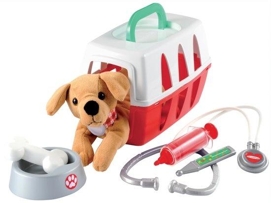 Medical: dierenartskoffer met hond