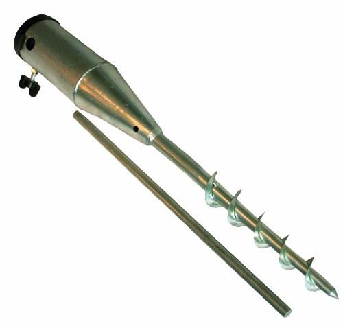 parasol-grondplug 25-63 mm staal zilver