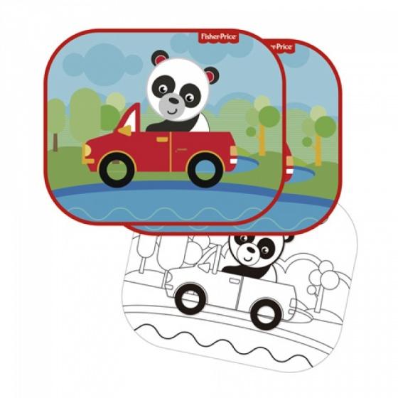 zonnescherm panda 44 x 36 cm 2 stuks + kleurplaat