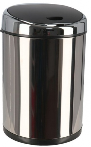 prullenbak sensor 23 x 24 x 36 cm RVS zilver 9 liter