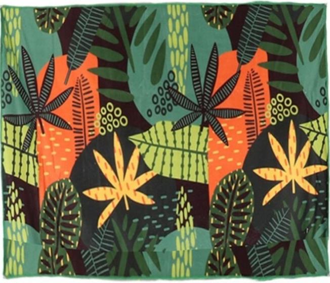 strandlaken 150 x 150 cm polyester groen