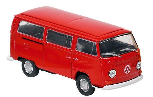Metalen Volkswagen Bus T2 (1972) Rood