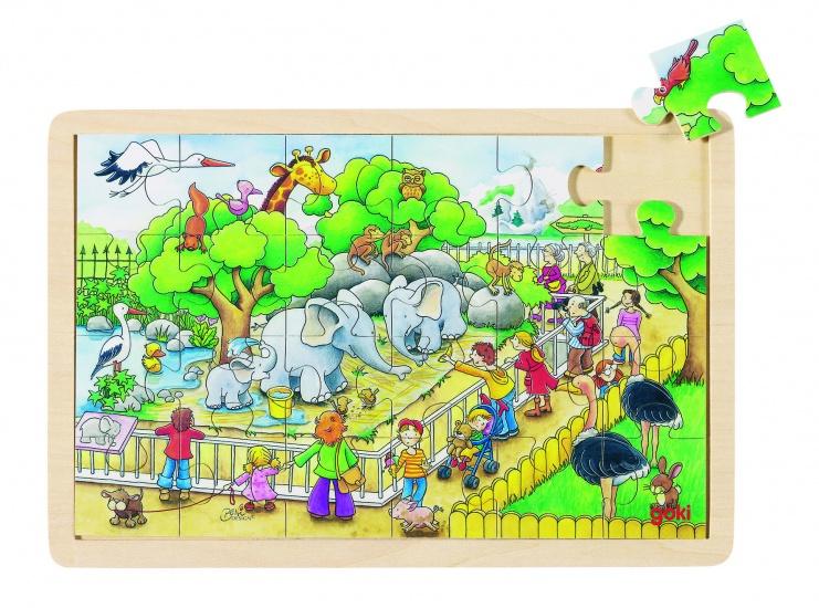Puzzel: Op Bezoek in De ZOO 24-Delig