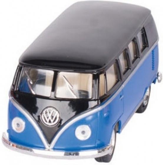 Volkswagen Classic Bus Blauw / Zwart (1962) 13 cm