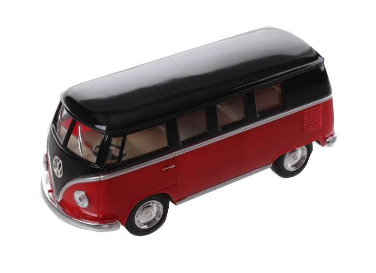 Volkswagen Classic Bus Rood / Zwart (1962) 13 cm