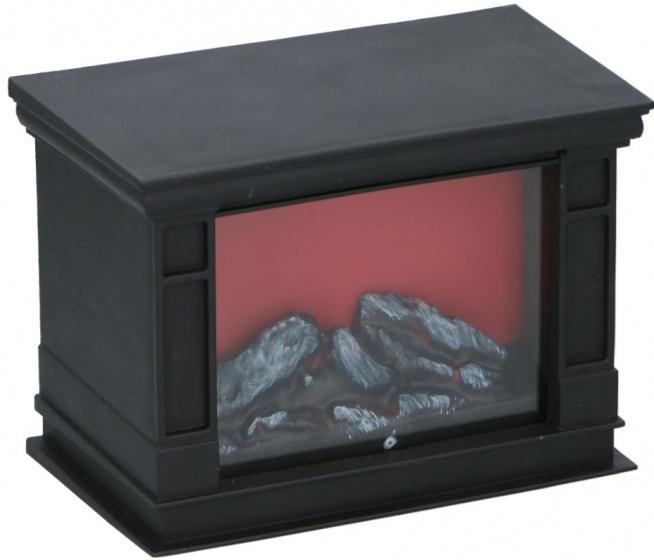 decoratieve haard LED 18x10x13 cm kunststof zwart