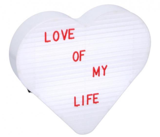 lichtbox led hart 144 letters/symbolen 23,5 x 26,5 cm