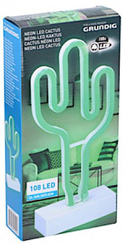 neonlamp led 30 x 14 cm cactus groen