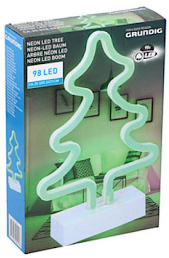 neonlamp led 30 x 25 cm boom groen