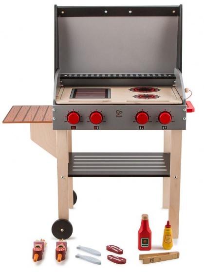 Hape wooden barbecue with food 70 cm blackbrown TWM Tom