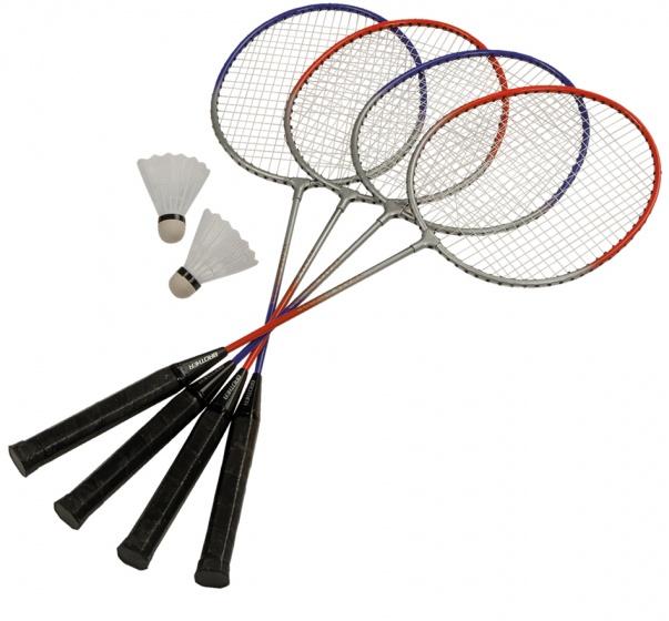 badmintonset 65 cm grijs/blauw 10-delig