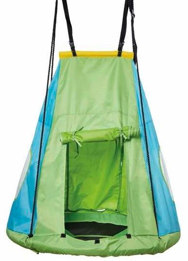 schommeltent voor nestschommel 110 cm groen/blauw