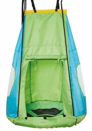 schommeltent voor nestschommel 90 cm groen/blauw
