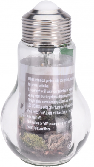 gloeilamp terrarium led 31 x 18 cm glas