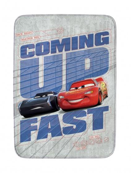 vloerkleed Cars coming up fast 70 x 95 cm lichtgrijs