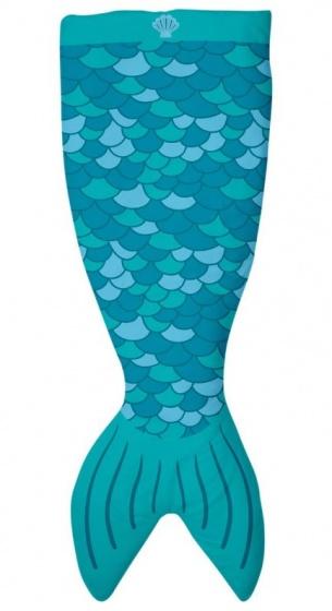 zeemeerminnen fleece-deken 142 x 55 cm blauw