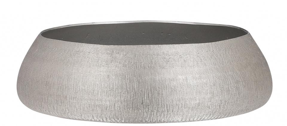 decoratieschaal Livia 35 x 16 cm staal zilver
