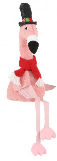 flamingo rode sjaal 19 x 16 x 56 cm pluche roze