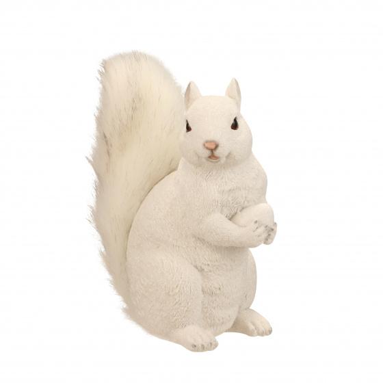 ornament eekhoorn 18,5 cm keramiek wit