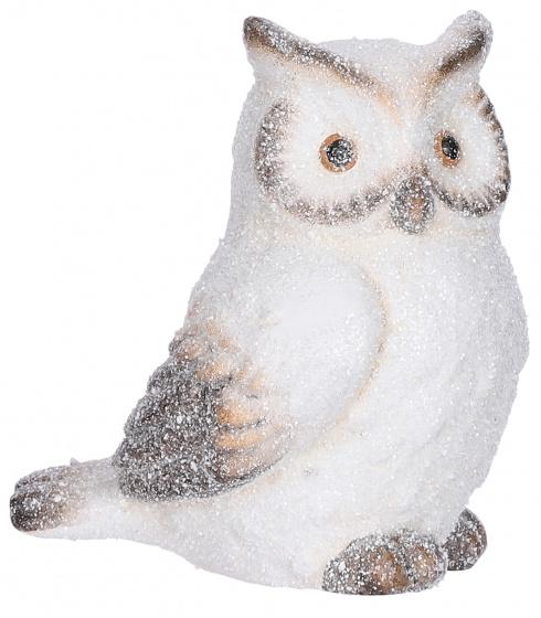 ornament uil 16 x 12,5 x 17 cm keramiek wit
