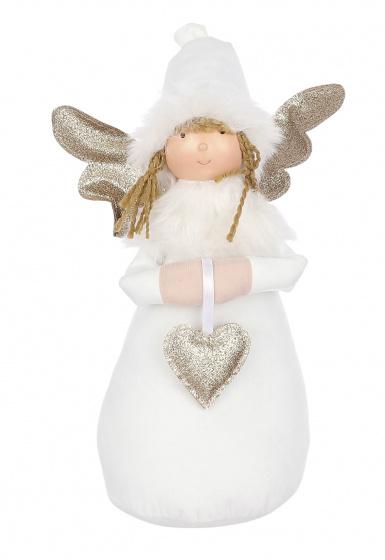 pop engel 19 x 32 cm polyester wit