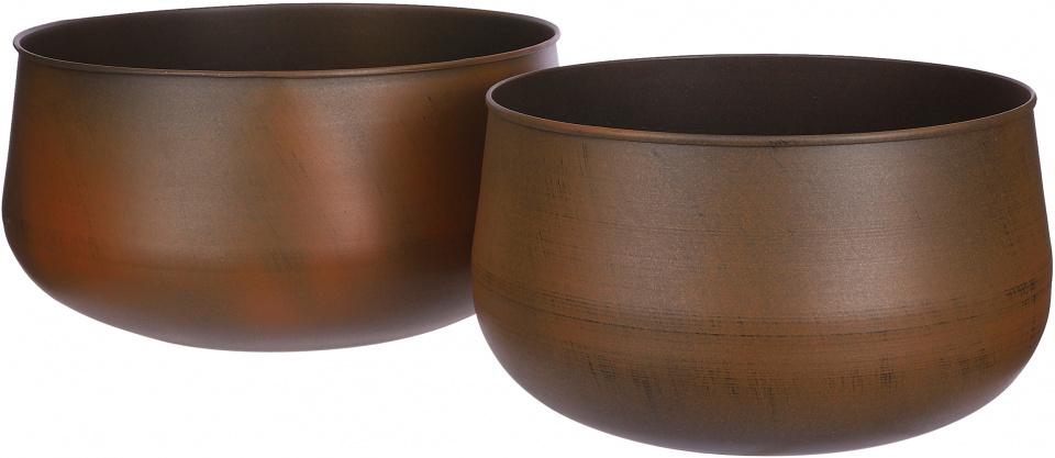 schalen Malawi 33,5 cm marmer bruin