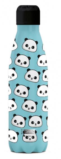 thermosfles Panda 500 ml RVS lichtblauw