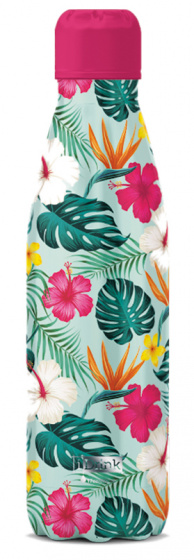 thermosfles Tropical 500 ml RVS groen/roze