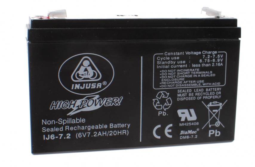 oplaadbare batterij High Power 6V-7,2 AH zwart
