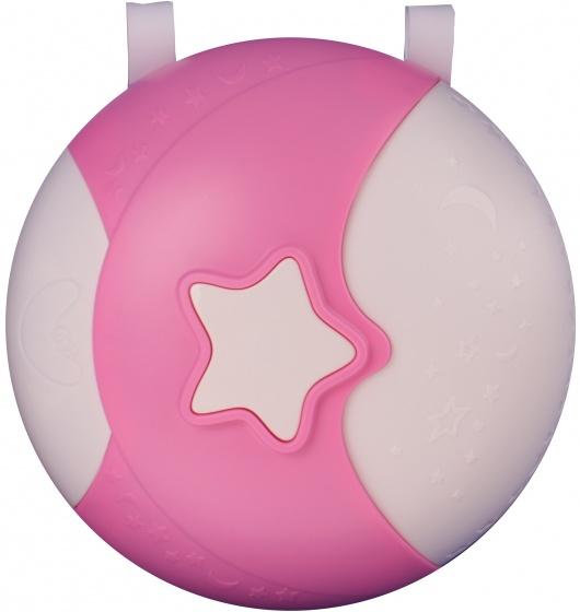 magisch nachtlampje met geluid 21 cm roze