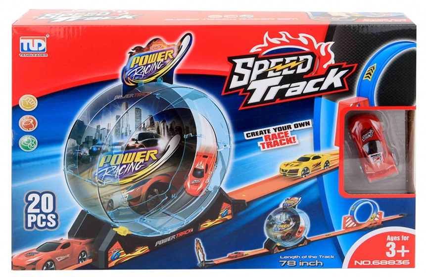 lanceerbaan Speed Track Power Racing 198 cm 20-delig