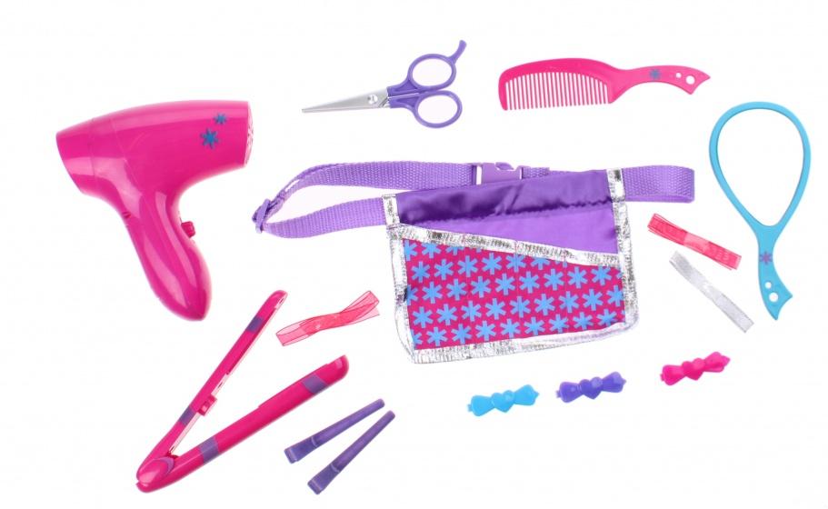 verkleedset Kapper meisjes 14-delig roze