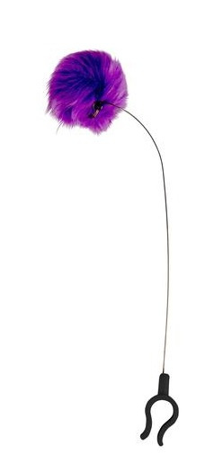 smartphone kattenclipje polyester/RVS paars