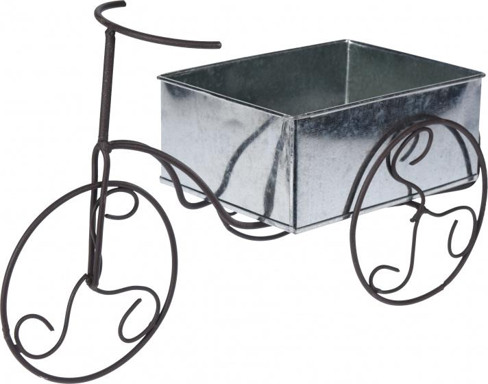 Bloempot fiets antiek zink