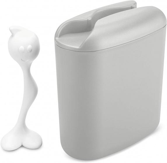 bewaarbox Hot Stuff 500 gram 20 cm grijs/wit