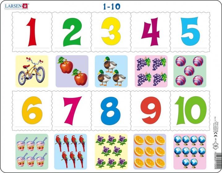 legpuzzel Maxi Leren tellen 10 stukjes