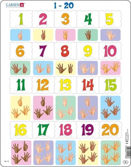 legpuzzel Maxi Leren tellen 20 stukjes